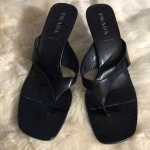 Prada Shoes Italy Size 39 1/2 Black